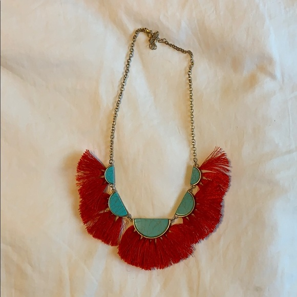 Francescas Turquoise & Red Necklace